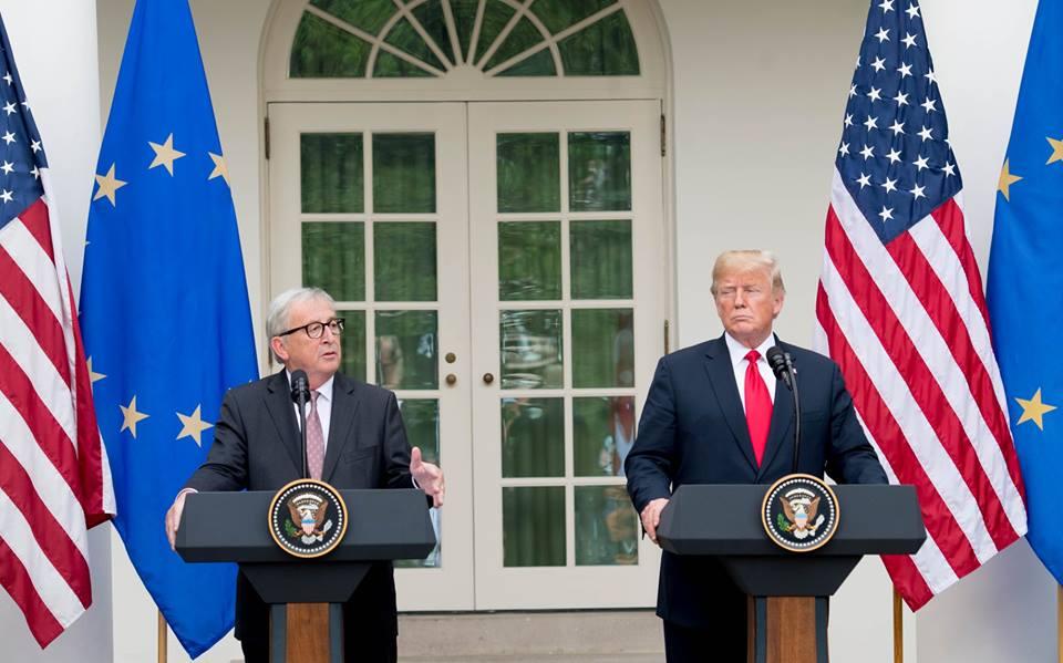 Трамп, Юнкер, Еврокомиссия